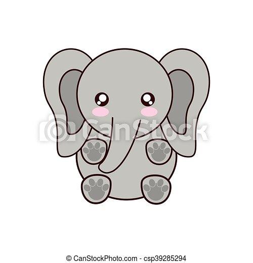 Kawaii Cute Cartoon Elephant