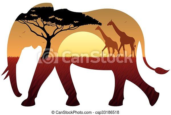Elephant Landscape - csp33186518