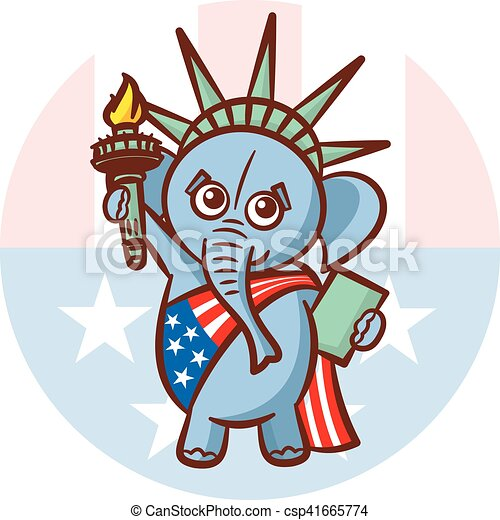 Elephant Symbols Of Republicans Political Parties In United