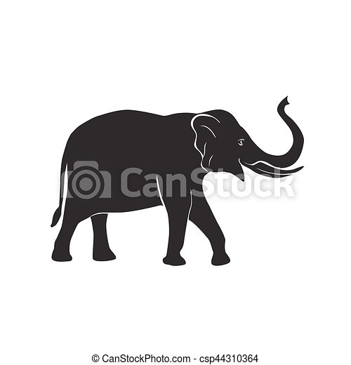c7db91094ab6 Elephant vector icon. African elephant simple symbol. vector ...