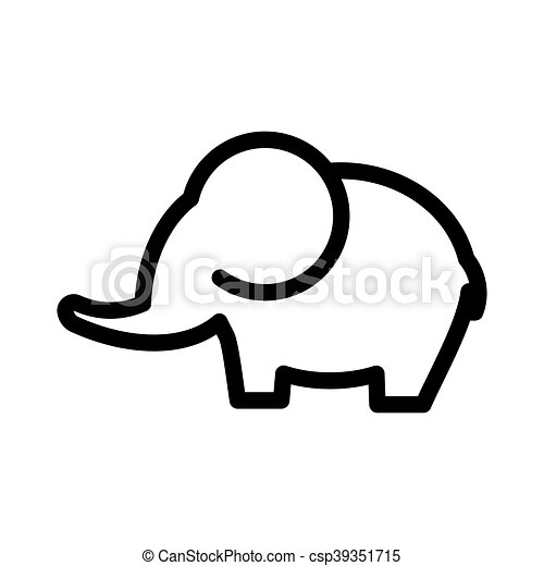 elephant vector icon vector illustration of the elephant icon rh canstockphoto com elephant vector file elephant vectors free