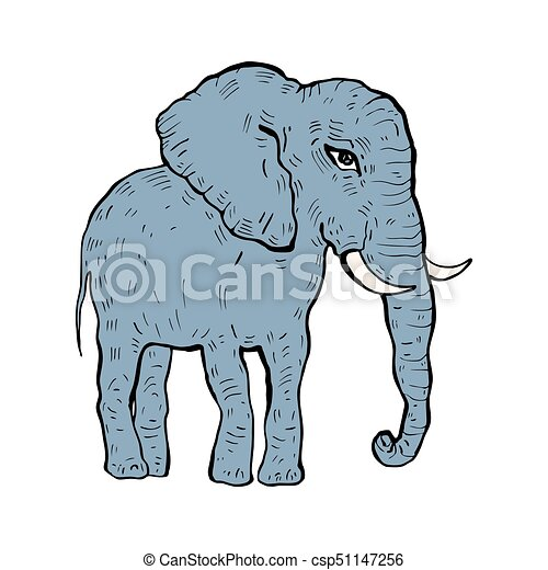 elephant vector illustration elephant hand drawn vector rh canstockphoto com elephant vector images elephant vector free download