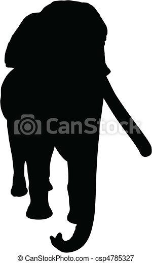 elephant vector silhouettes - csp4785327