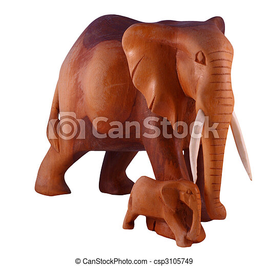 Elephant with calf - csp3105749