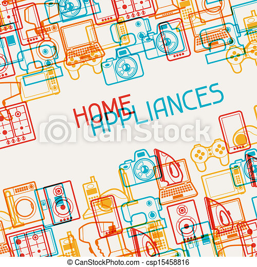 eletrônica lar, eletrodomésticos, experiência. - csp15458816