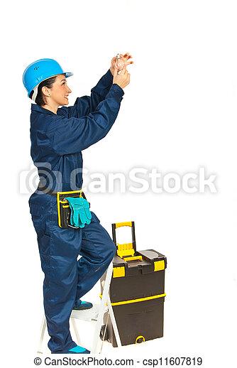 eletricista, mulher - csp11607819
