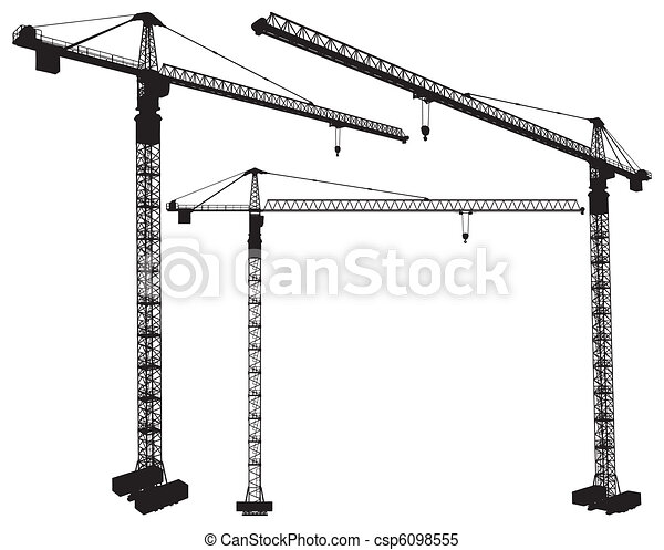 Elevating Construction Crane - csp6098555