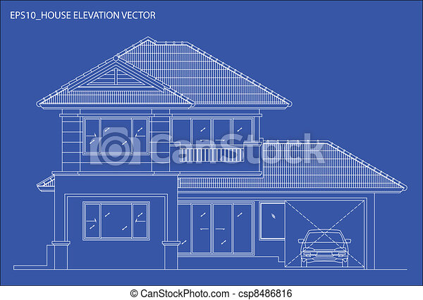 elevation house vector - csp8486816