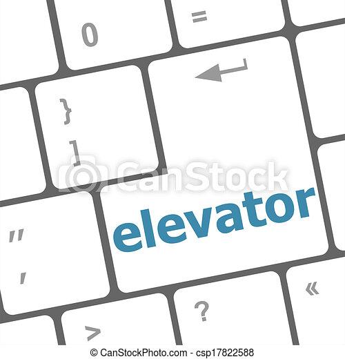 elevator button on computer pc keyboard key rh canstockphoto com