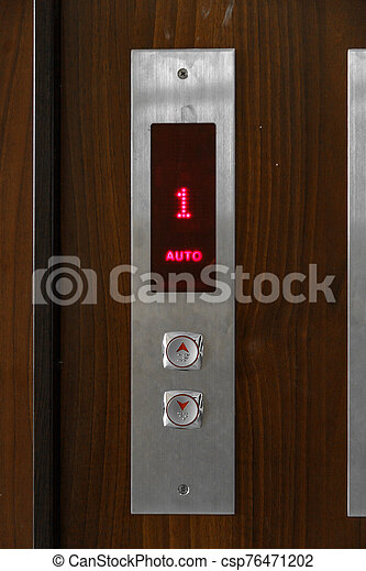 Elevator call buttons. selective focus, shallow depth of field - csp76471202