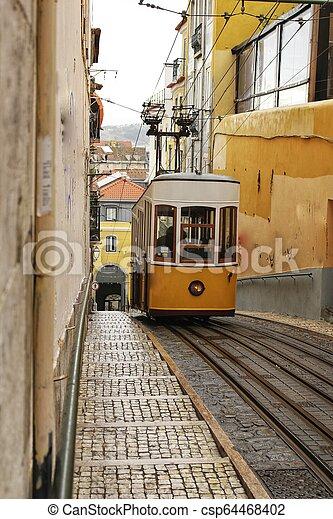 Elevator Da Bica In Lisbon Portugal Elevator Da Bica In Winter In