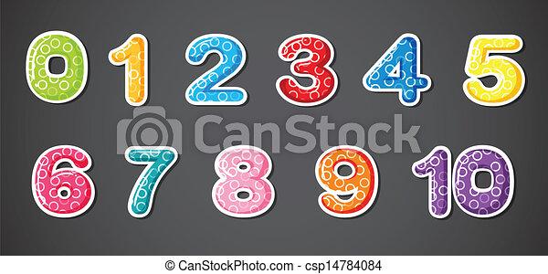 Eleven numerical figures - csp14784084