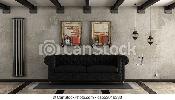 eleven, retro, szoba - csp53016330