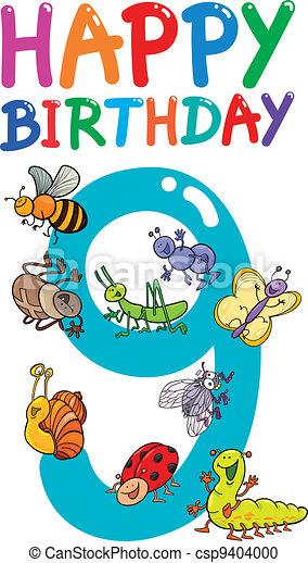 eleventh birthday anniversary design - csp9404000