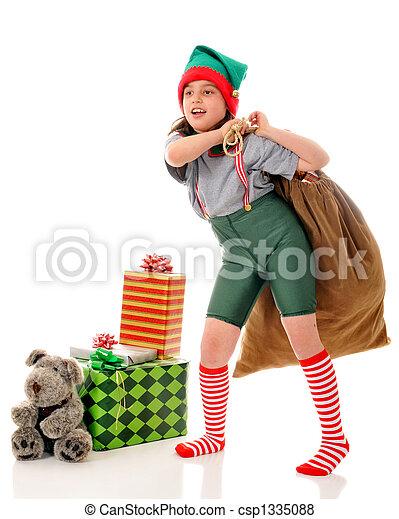 Elf at Work - csp1335088