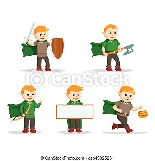 elf character set illustration design - csp43025251