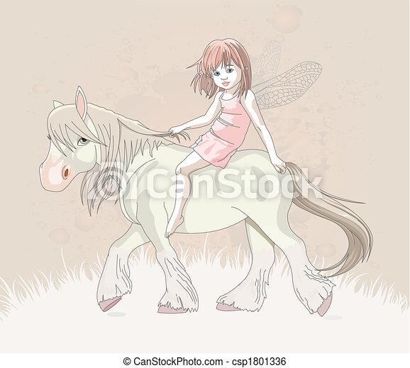 Elf on horse - csp1801336