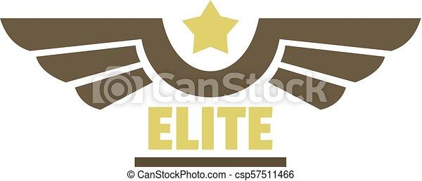 Elite air force icon logo, flat style - csp57511466