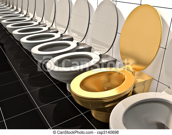 toilet made of gold. Elite Gold Office Toilet  Made In 3d Csp3140698 Toilet Made Stock Illustration Search EPS