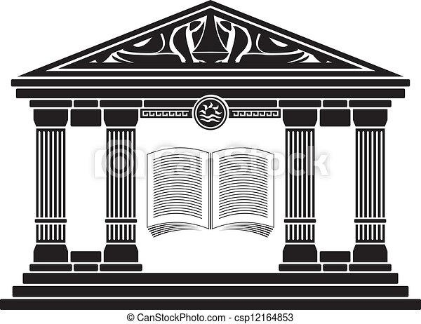 ellenico, scuola, antico - csp12164853