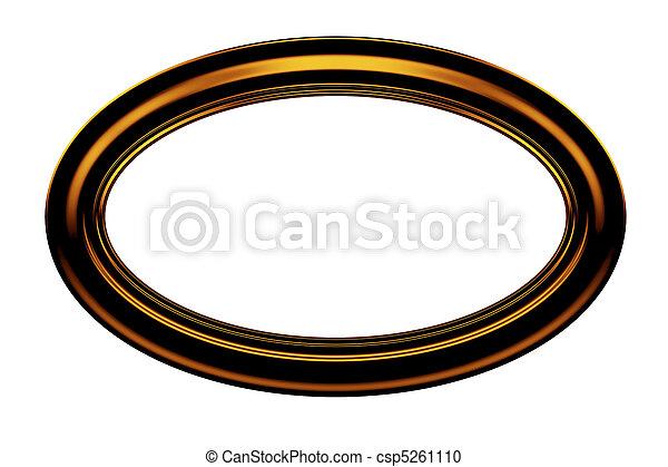 Ellipse brown painting frame - csp5261110