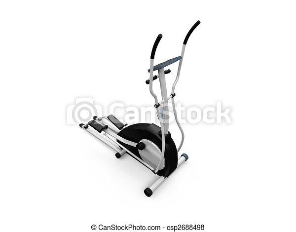 elliptical machine over white - csp2688498