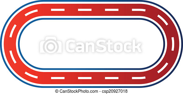 elliptical race circuit image logo elliptical race circuit rh canstockphoto com race track clipart border car race track clipart