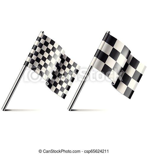 elszigetelt, ábra, lobogó, vektor, fehér, versenyzés - csp65624211