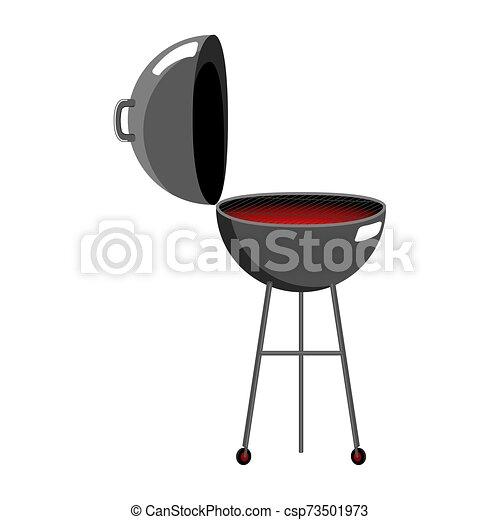 elszigetelt, grillsütő grillsütő - csp73501973