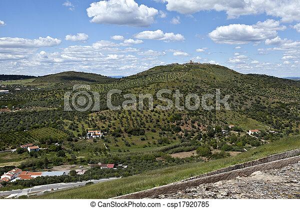 Elvas - View of Forte da Graca - csp17920785