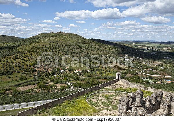 Elvas - View of Forte da Graca - csp17920807