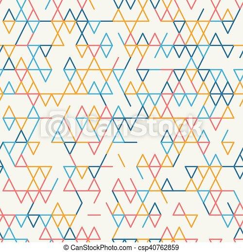 elvont, geometriai, pattern., seamless, háttér. - csp40762859