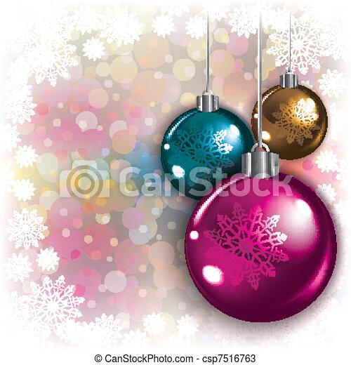 elvont, háttér, christmas dekoráció - csp7516763