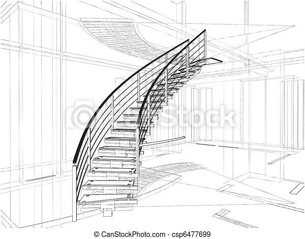 elvont, lépcsőházak, spirál - csp6477699