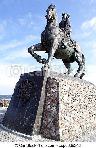 Elysaveta on the horse - csp0869343