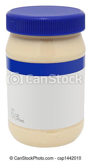 em branco, etiqueta, jarro, mayonaise - csp1442010