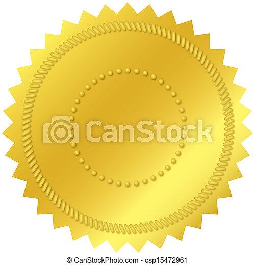 em branco, selo ouro - csp15472961