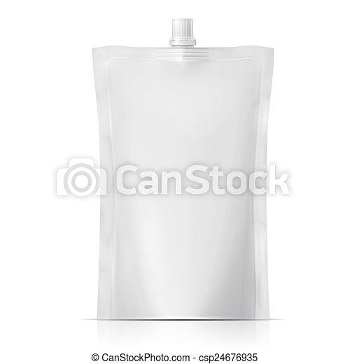 em branco, spouted, pouch. - csp24676935