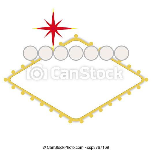 em branco, vegas, bem-vindo, las, sinal - csp3767169