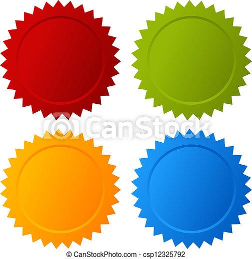 em branco, vetorial, selos - csp12325792
