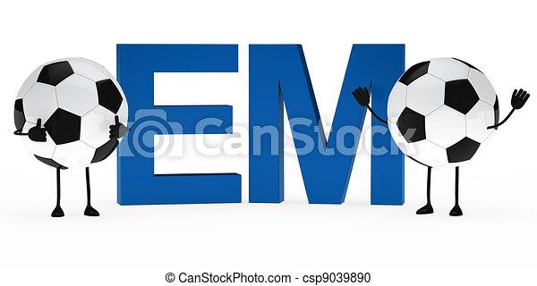 Em Fussball Figur Figur Oberseite Fussball Welle Hande