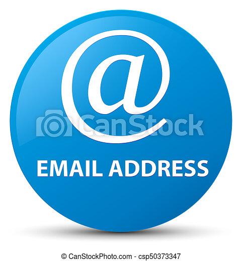 Email address cyan blue round button - csp50373347
