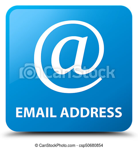 Email address cyan blue square button - csp50680854