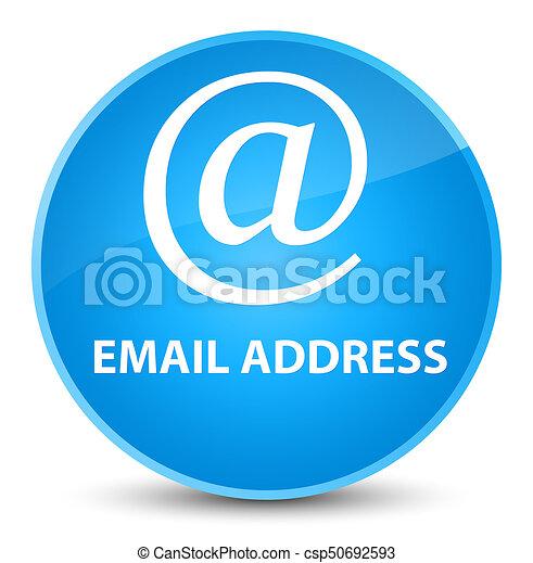 Email address elegant cyan blue round button - csp50692593