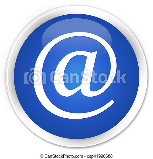 Email address icon blue glossy round button - csp41996688