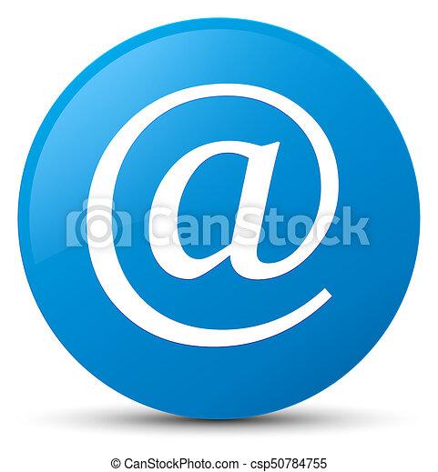 Email address icon cyan blue round button - csp50784755