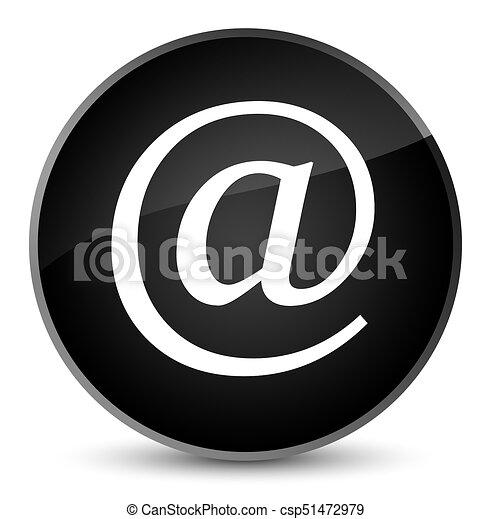 Email address icon elegant black round button - csp51472979
