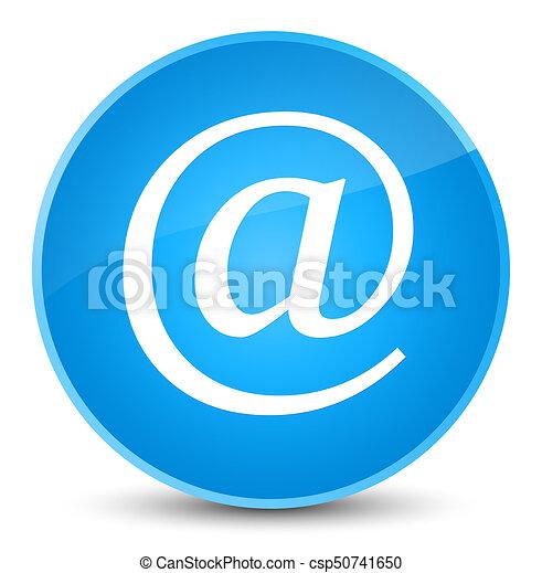 Email address icon elegant cyan blue round button - csp50741650