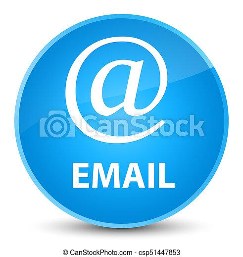 Email (address icon) elegant cyan blue round button - csp51447853