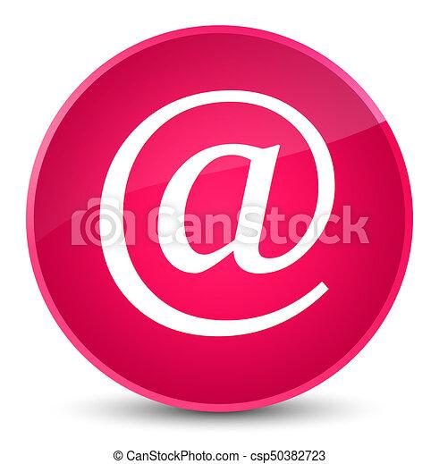 Email address icon elegant pink round button - csp50382723